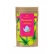 Hemp tea made from cannabis leaves